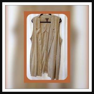 Multiples Size 1X Sleeveless Faux Vest